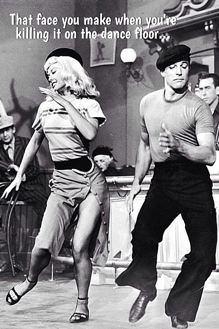 Gene Kelly dancing with female partner