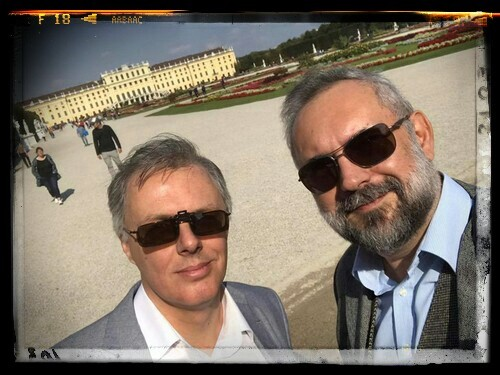 Marcos M. Gaser with John W. Furst in Schönbrunn, Vienna, Ausstria