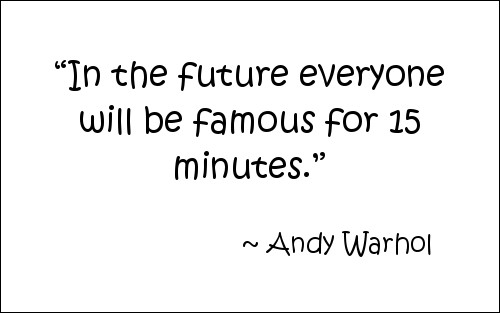 Quoteb y Andy Warhol